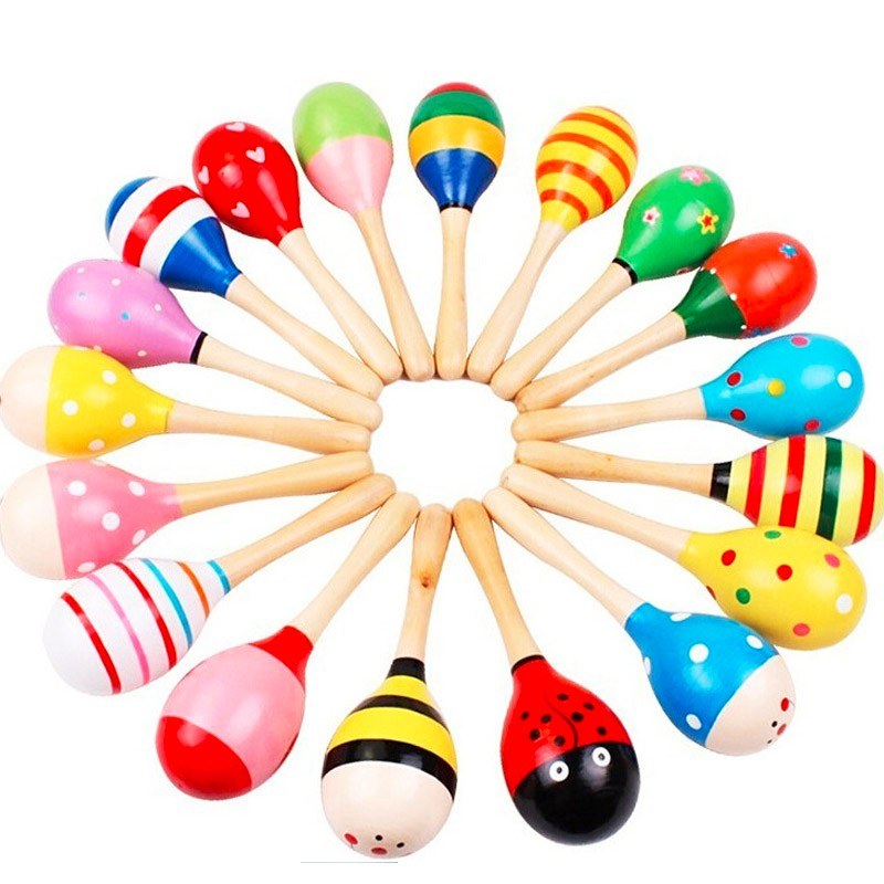Hot Sale Wooden Large Maracas Rumba Shakers Rattles Sand Hammer Percussion Instrument Musical Toy For Kid Children Party Games Diversified In Packaging Percussion Instruments