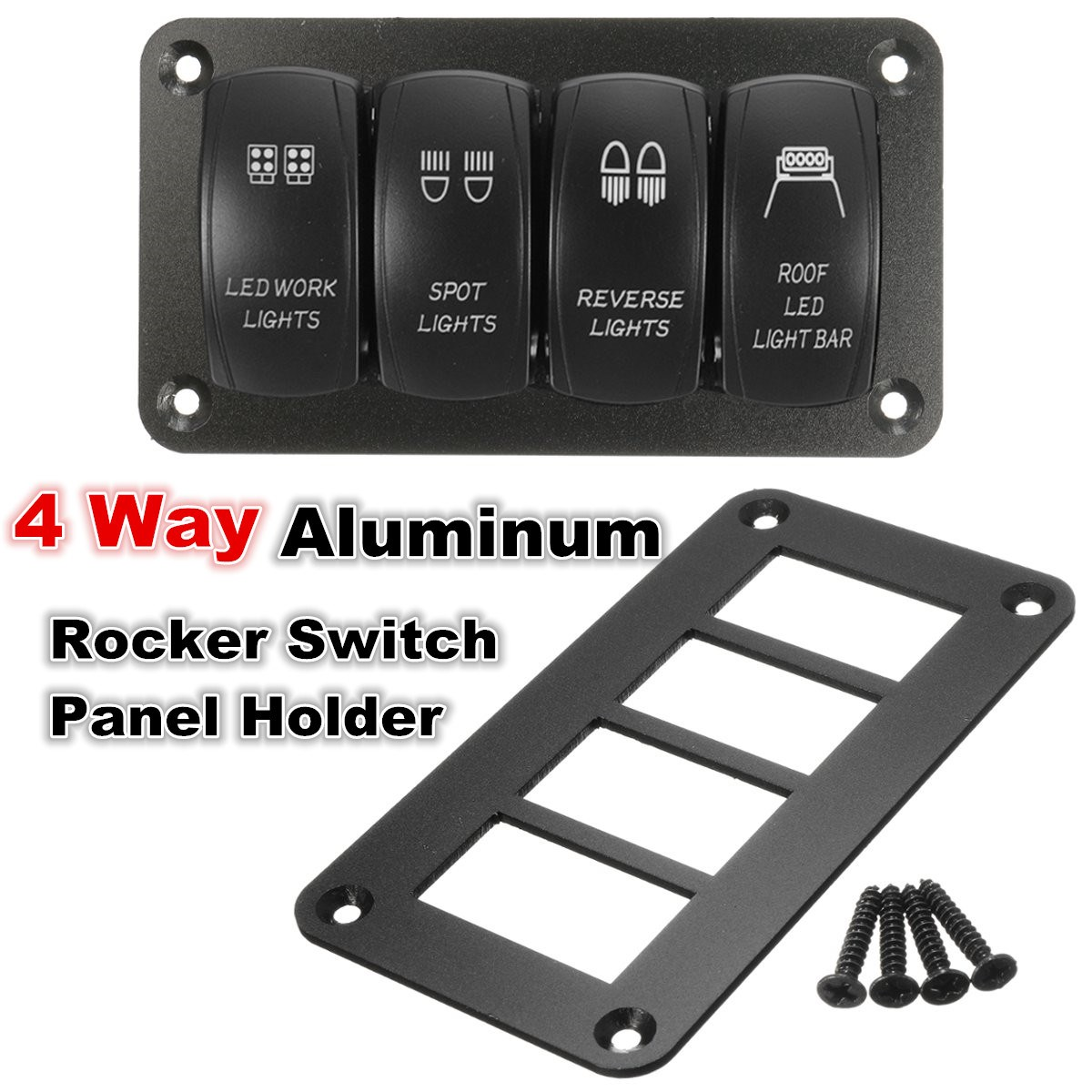 2/3/4/6 Way Aluminum Rocker Switch Panel Housing Holder FOR ARB ...