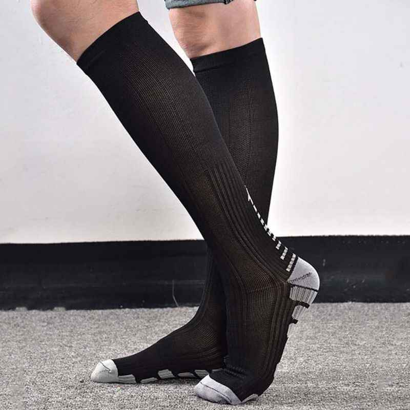 ea8484bf8270 New 1 pair Women's Anti-Fatigue Knee High Stockings Compression Support  Outdoor Running Sports Winter