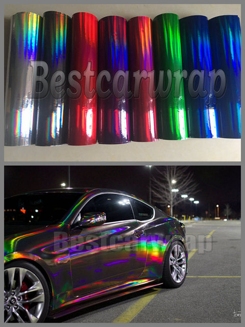 Various Colors Holographic Chrome Silver Black Amp Red