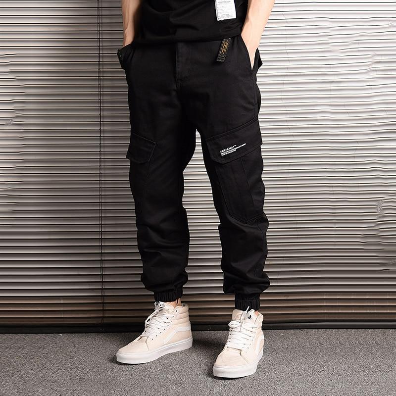 American Streetwear Fashion Men Jeans Camouflage Jogger Pants Men Big Pocket Cargo Pants Hombre Japanese Style Hip Hop Jeans Men