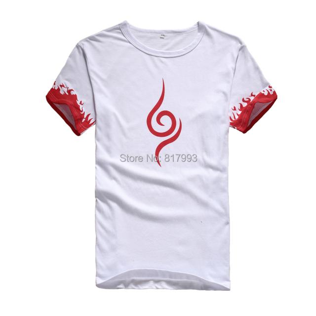 Camiseta Naruto 2 estilos das mulheres dos homens colthing t-shirt casual vestido anime cosplay verão shirts Tops & t