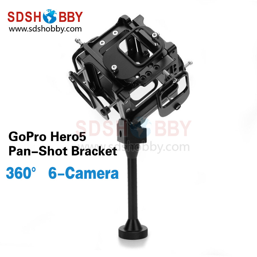 360 720 Degree Panorama Shooting Bracket VR Spherical Video Pan-Shot Panoramic Support for GoPro Hero 5 Available for 6 Hero5 Ca