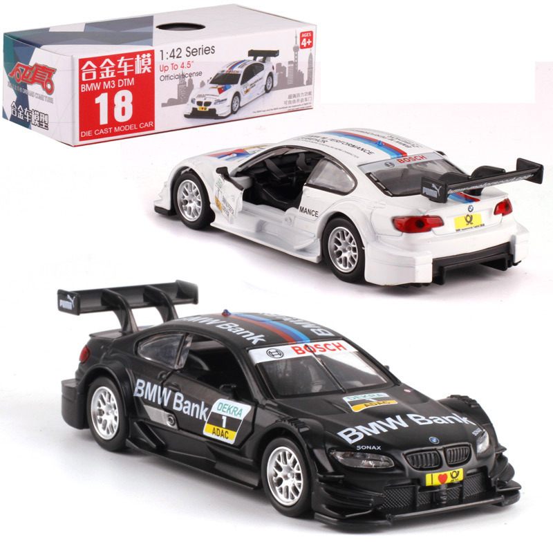 1:42 Scale M3 DTM Alloy Pull-back Car Diecast Metal Model Car For Collection Friend Children Gift