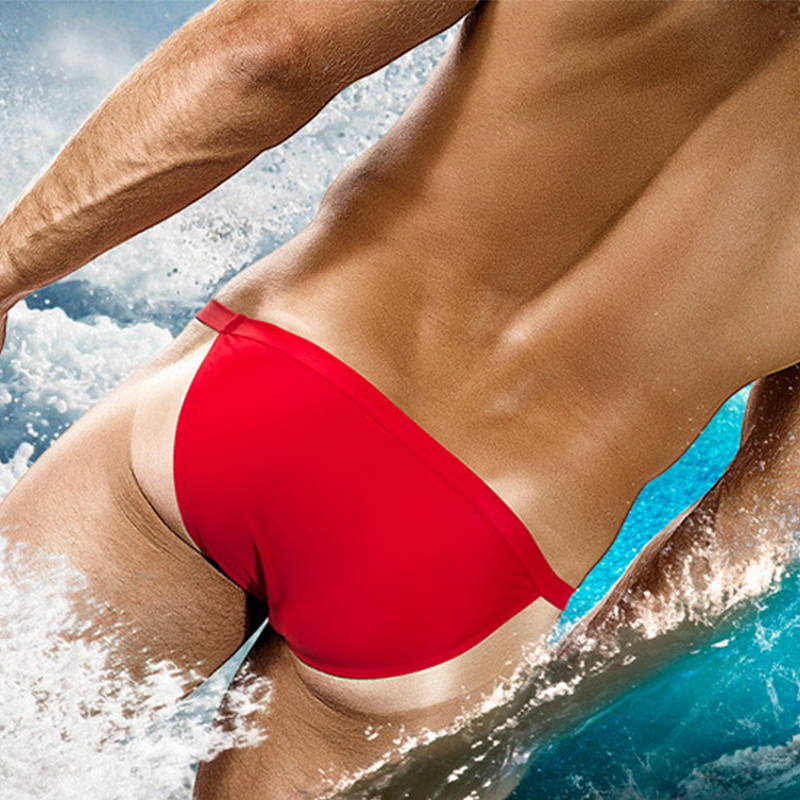 Hot Swimwear Tanga Men Thong Briefs G String Sexy Hombre Beach Trunks Shorts Swimsuit Bathing Suit Beachwear Zwembroek Heren