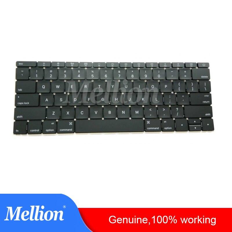 "Original A1534 Laptop Keyboard For MacBook 12"" 2015 2016 Year MF855LL/A MF865LL/A US Notebook Standard Keyboard"