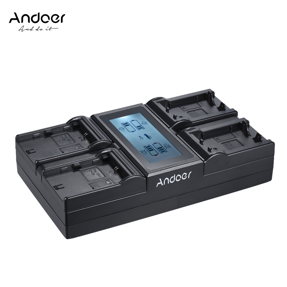 Andoer LP E6 LP E6N NPFW50 NP FW50 Digital Camera Battery Charger for Canon 5DIII 5DS