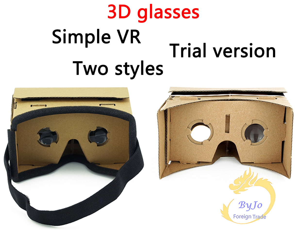 Virtual Reality Glasses Google Cardboard 3D Glasses VR Box Movies for iPhone 5 6 7 SmartPhones
