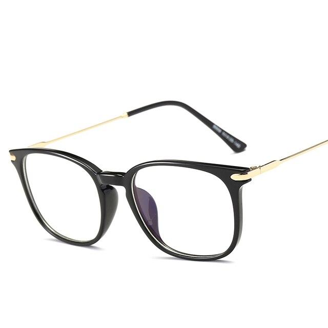 f6947b743d Brand TR90 Anti Blue Ray Eyeglasses Oversized Optical Myopia Eyewear  Titanium Frame Black Computer Glasses Frame