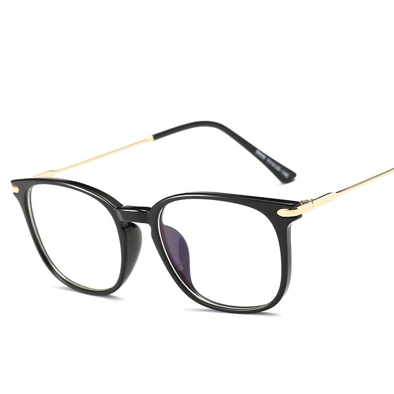 Brand TR90 Anti Blue Ray Eyeglasses Oversized Optical Myopia Eyewear Titanium Frame Black Computer Glasses Frame for Women Men