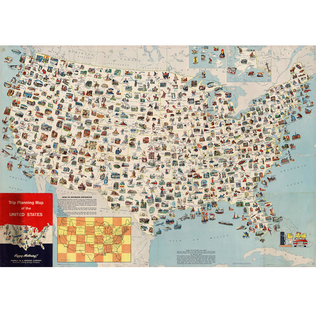 Aliexpresscom Buy Trip Planning Map Of The United States Canvas