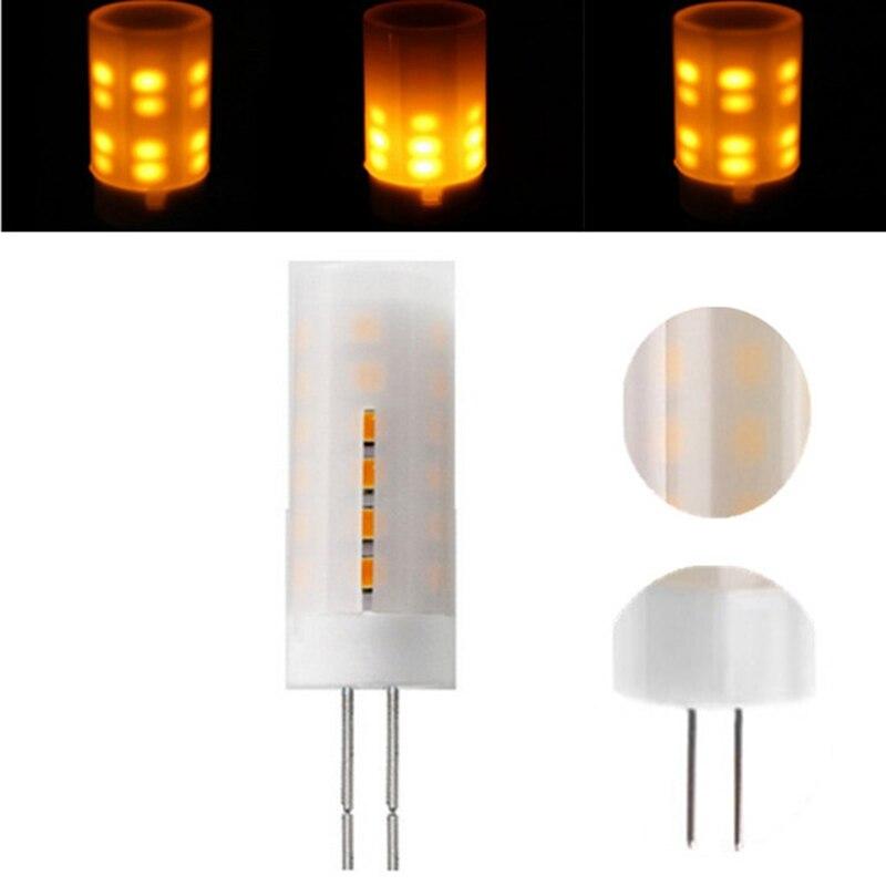 2835SMD LED Flame Effect LED Lamp Bulb G4 Flickering Burning Firing LED Corn light Bulb DC12V Decoration Replace Halogen Lamp