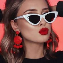 cute sexy retro cat eye sunglasses women small black white 2
