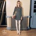 NOVIA SW-010 new women's tights high quality european design forest cartoon printing 80D velvet pantyhose