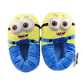 Top quality Despicable Me  1pair 11'' Slippers Minions Plush Stuffed Cuddly Fluffy Collectible Jorge