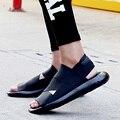 2017 Nuevo Verano Sandalias de Los Hombres Sandalias Kaohe Interior Hombres Zapatillas de punta Abierta Sandalias de Cuero Sandalias de Los Hombres del Hombre de Calidad Superior de Calzado