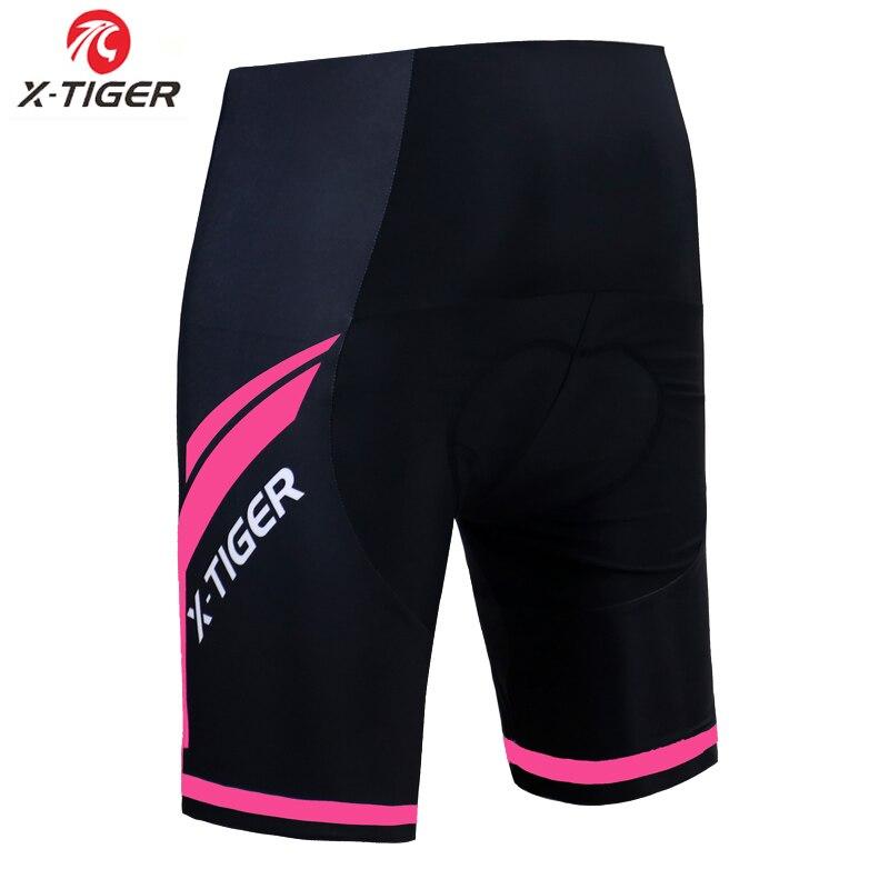 X-tiger – short de cyclisme pour femmes, rembourré en Gel de silice 3D, antichoc