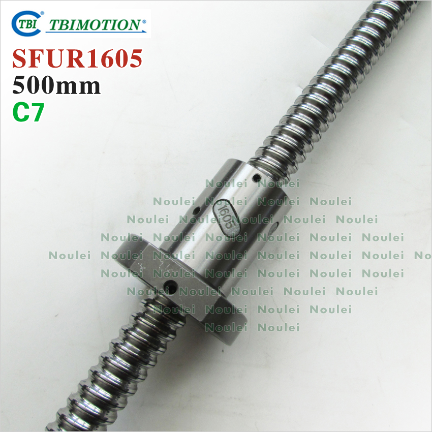 Taiwan TBI 1605 C7 500mm ball screw 5mm lead with SFU1605 ballnut + end machined for CNC z axis diy kit tbi 2510 c3 620mm ball screw 10mm lead with dfu2510 ballnut end machined for cnc diy kit dfu set