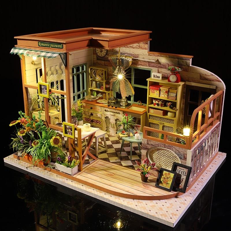 Cutebee Casa Doll House Furniture Miniature Dollhouse DIY Miniature House Room Box Theatre Toys For Children Casa Dollhouse S02B