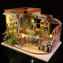 Cutebee Casa ตุ๊กตาเฟอร์นิเจอร์บ้าน Miniature ตุ๊กตา DIY Miniature บ้านกล่อง Theatre ของเล่นเด็ก Casa ตุ๊กตา S03B