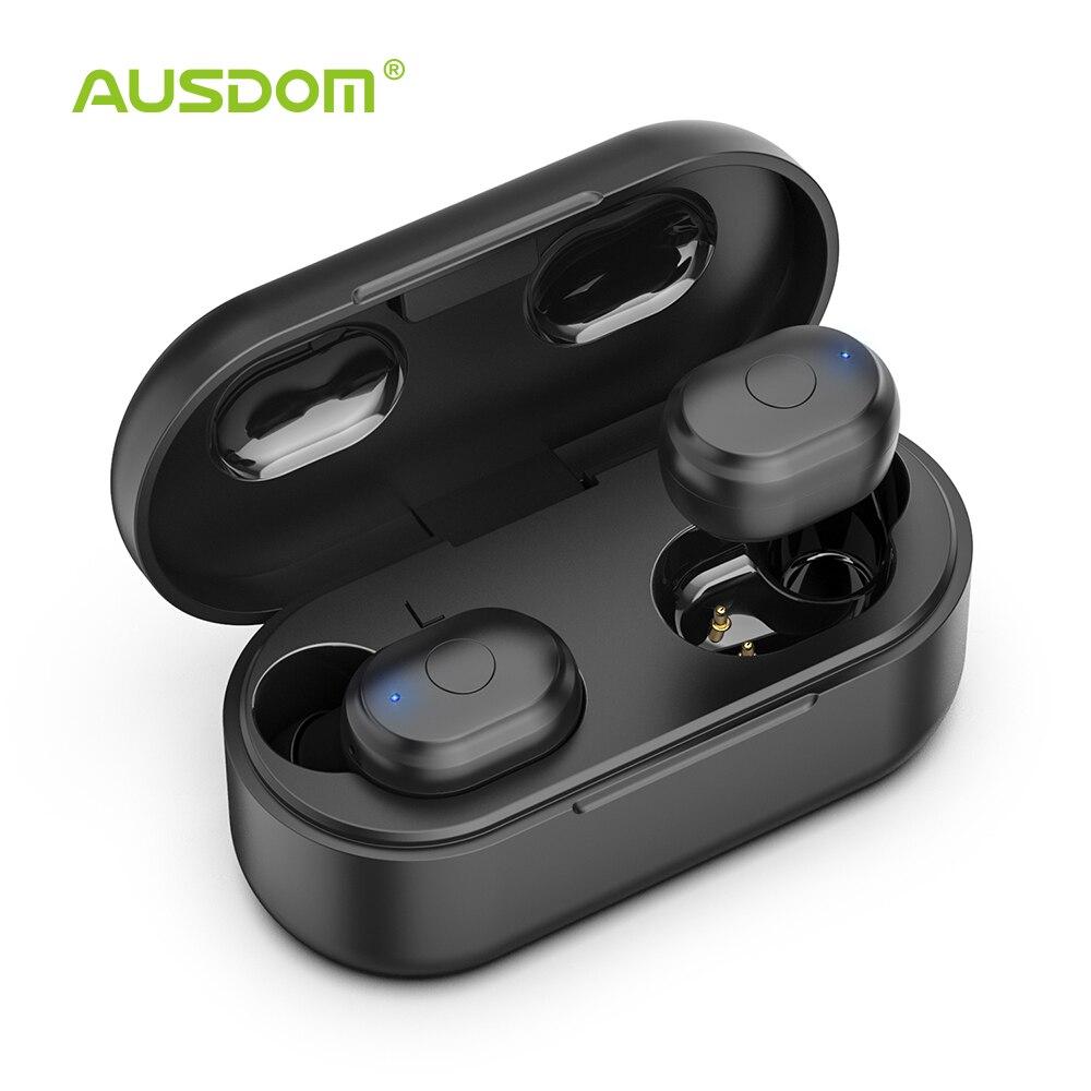 AUSDOM TW01 TWS sans fil Bluetooth écouteur 20 H temps de jeu casque sans fil CVC8.0 suppression du bruit Sport écouteurs avec double micro