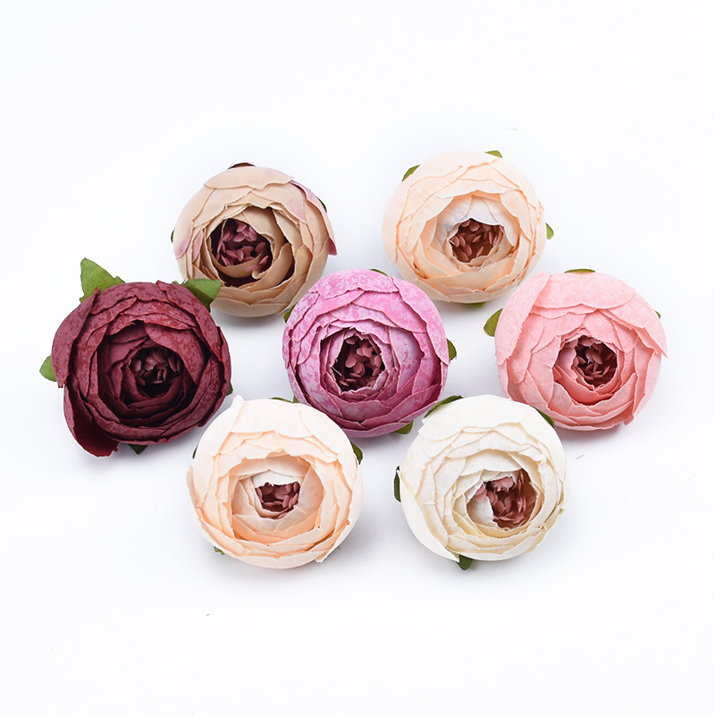 10pcs Decorative Artificial Flowers Made Of Silk Material For Home Decoration 5