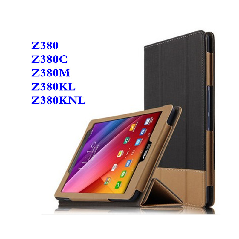 SD For Asus ZenPad 8 Z380KNL Stand Stitching Color PU Leather Book Case For Zenpad 8.0 Z380M Z380KL Z380C P024 Flip Tablet Cover