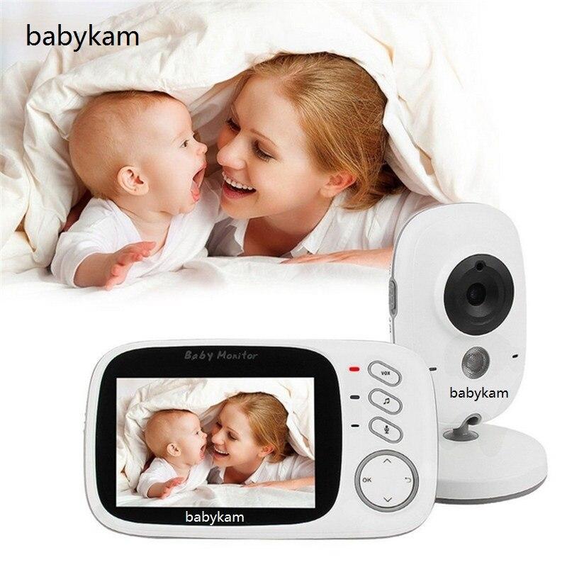Babykam 3.2 inch vigila bebes doppler fetal IR Night vision 2 way talk 8 lullabies Temperature monitor baby monitor vigilabebes цена
