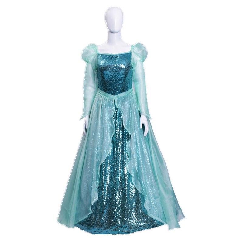 The little Mermaid Ariel Princess Dress Cosplay Adult Ariel Mermaid Costume Women Mermaid Princess Ariel Green Dress Cosplay
