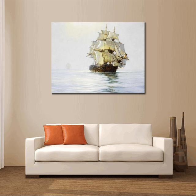 US $13 0 |Aliexpress com : Buy Canvas painting custom size prints Mists in  the seas for home wall decor from Reliable the paintings suppliers on