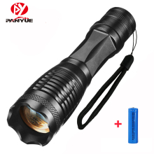 цена на PANYUE Portable LED Flashlight LED Torch Zoomable Flashlight 1000LM E6 XM-L T6 5 Mode Light For 18650 or 3*AAA Battery