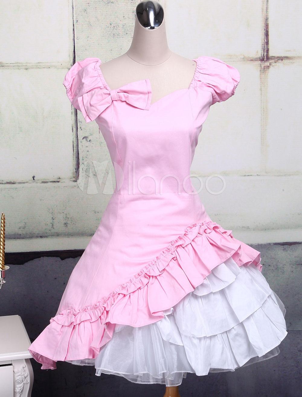 Здесь продается  Classic Cotton Short Sleeves Ruffle Lolita Dress  Одежда и аксессуары