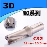 WC SP C32 3D SD 31 32 33 34 35 mm U drilll und Hohe geschwindigkeit bohrer Verwenden WCMX06T308 einsätze für bohrmaschine