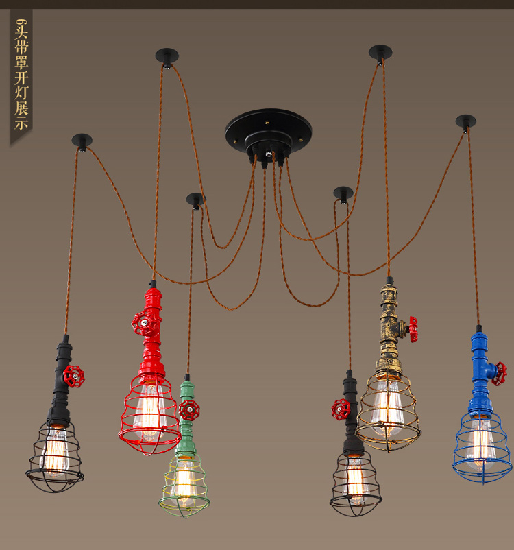Vintage Rope Iron Pipe Pendant Light AC 90-260V Loft Creative Personality Industrial Edison Bulb American Style For Living Room тв тумба мелания 1706 м2