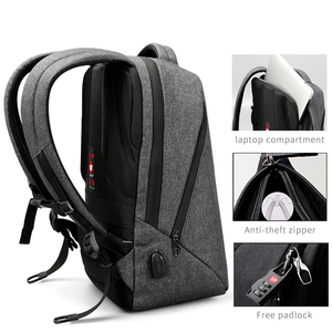 "Image 2 - Tigernu Brand Men Backpack Anti Theft USB Charge 17"" Laptop Backpack Male Women School Backpack School Bag High Quality Men Bag"