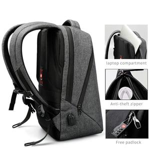 """Image 2 - Tigernu marque hommes sac à dos Anti vol USB Charge 17 """"sac à dos pour ordinateur portable mâle femmes école sac à dos sac décole de haute qualité hommes sac"""