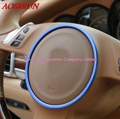 3色オプションステアリングホイール修正された車の特別な装飾的なサークルポルシェカイエン用パナメーラs 911ボクスター3Dステッカー