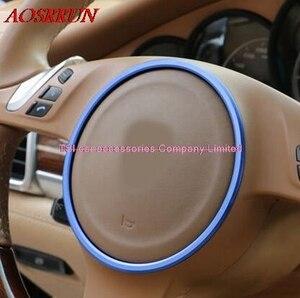 Image 1 - 3D наклейки на руль PORSCHE cayenne Panamera S 911 Boxster, 3 цвета на выбор