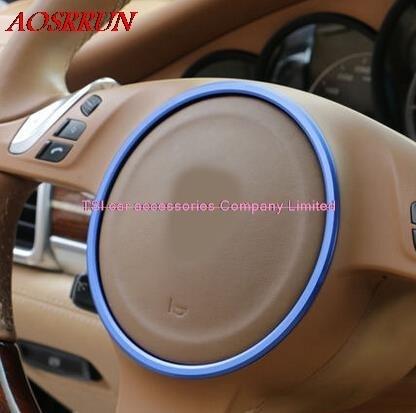 3D наклейки на руль PORSCHE cayenne Panamera S 911 Boxster, 3 цвета на выбор