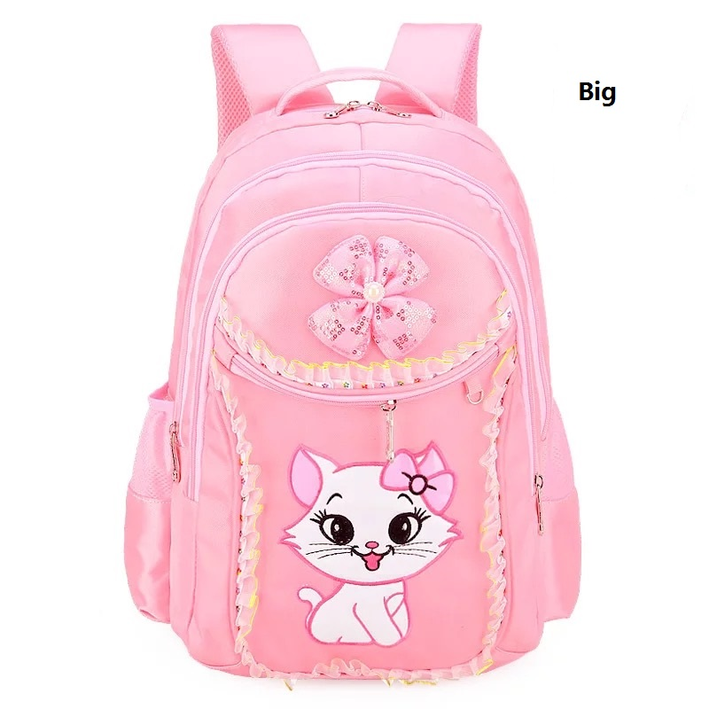 0e1ffef5c038 New Children School Bag For Girls Sweet Cat Backpack Lace Lovely Primary  Book Bag Set Kids Travel Back Pack Bag-in School Bags from Luggage   Bags  on ...