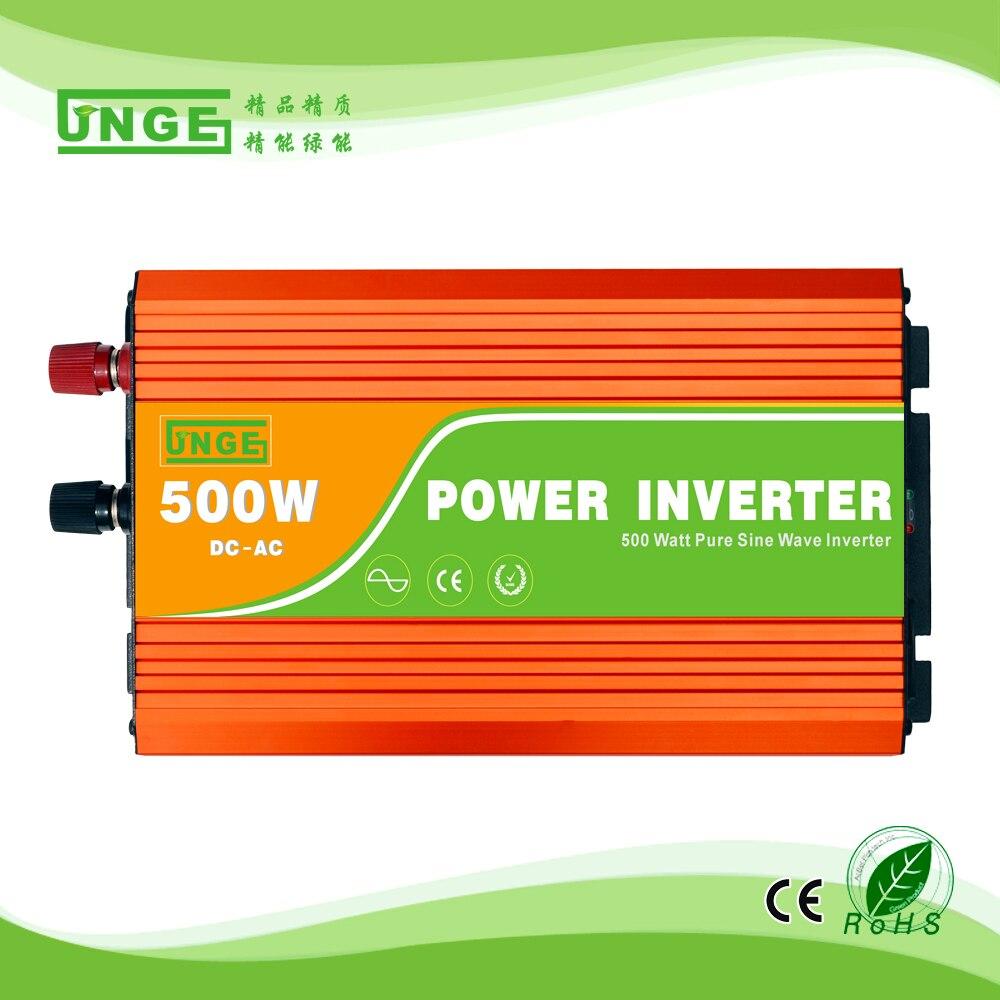 500 W 12/24/48 V à 100/110/120/220/230/240VAC 50/60Hz usage domestique haute fréquence onde sinusoïdale pure hors réseau onduleur