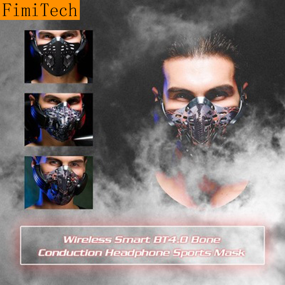Bone Conduction Bluetooth Headphone Sport Smart Wireless Mask Headset Anti PM2.5 Anti-fog Hifi Earphone with Mic Fone De Ouvido