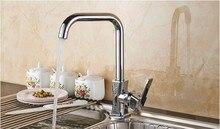 Мода Высокого качества латунь хром горячей и холодной кухни однорычажный кран раковины с высоким качеством керамический картридж