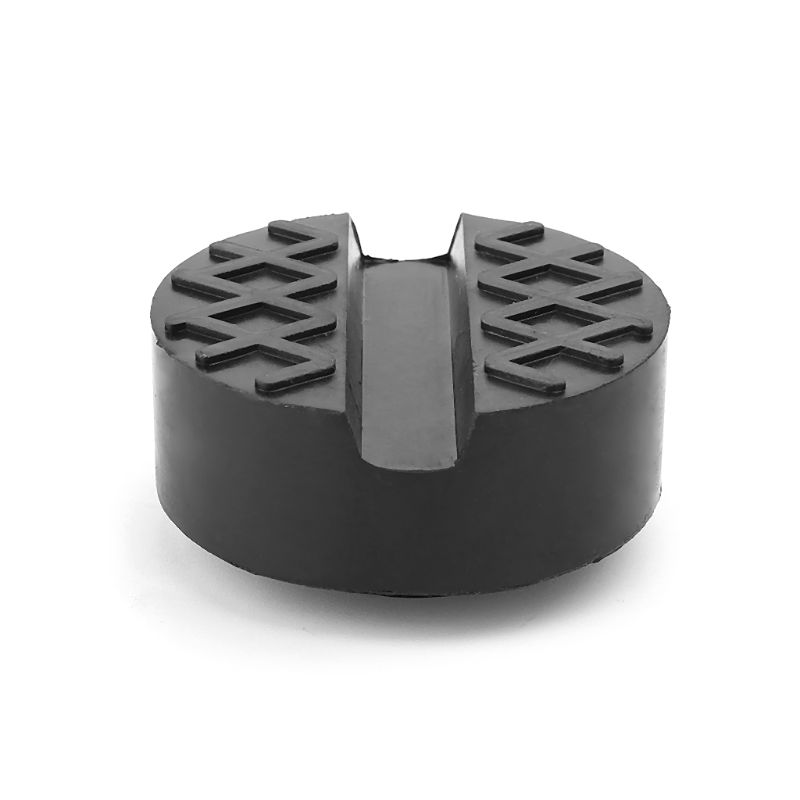 1 Pcs Large Slotted Floor Jack Pad Frame Rail Lift Rubber Disc Block Thickened