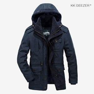 Image 2 - Winter Jacket Men Parkas Top Warm Waterproof Big Size Thicken Male Heavy Wool 2 in 1 Coat High Quality Fleece Cotton Padded