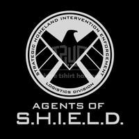 FREE SHIPPING Agents of S.H.I.E.L.D. logo t shirt men women o neck 100% cotton 180gsm ringspun short sleeve straight cut tee