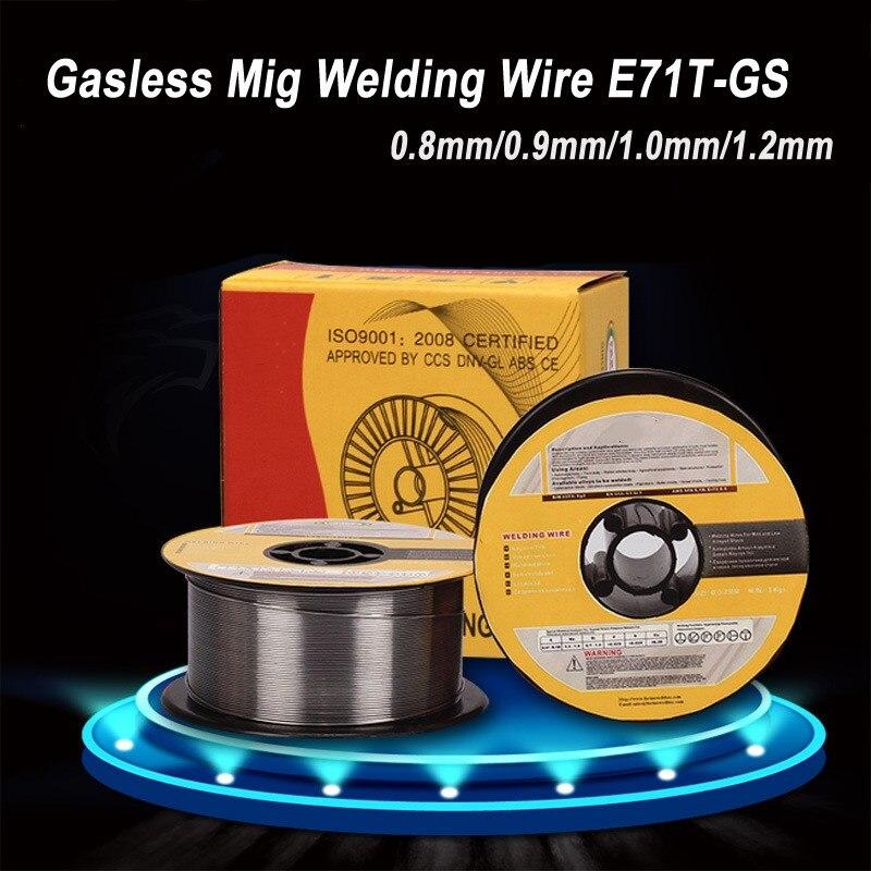 1 kg 0.8/0.9/1.0/1.2 millimetri Gasless Mig Saldatura A Filo E71T-GS A5.20 Flux Animato Filo di Saldatura senza gas Per Mig Saldatore Strumento