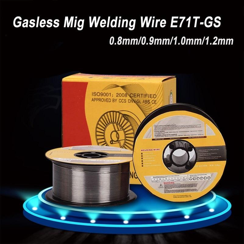 1 kg 0.8/0.9/1.0/1.2mm fil de soudage Mig sans gaz E71T-GS A5.20 fil de soudage fourré sans gaz pour outil de soudeur Mig