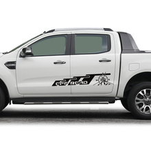 cuatom car decals 2pc side body off road mountain styling protect graphic vinyl  modified accessories for ford ranger