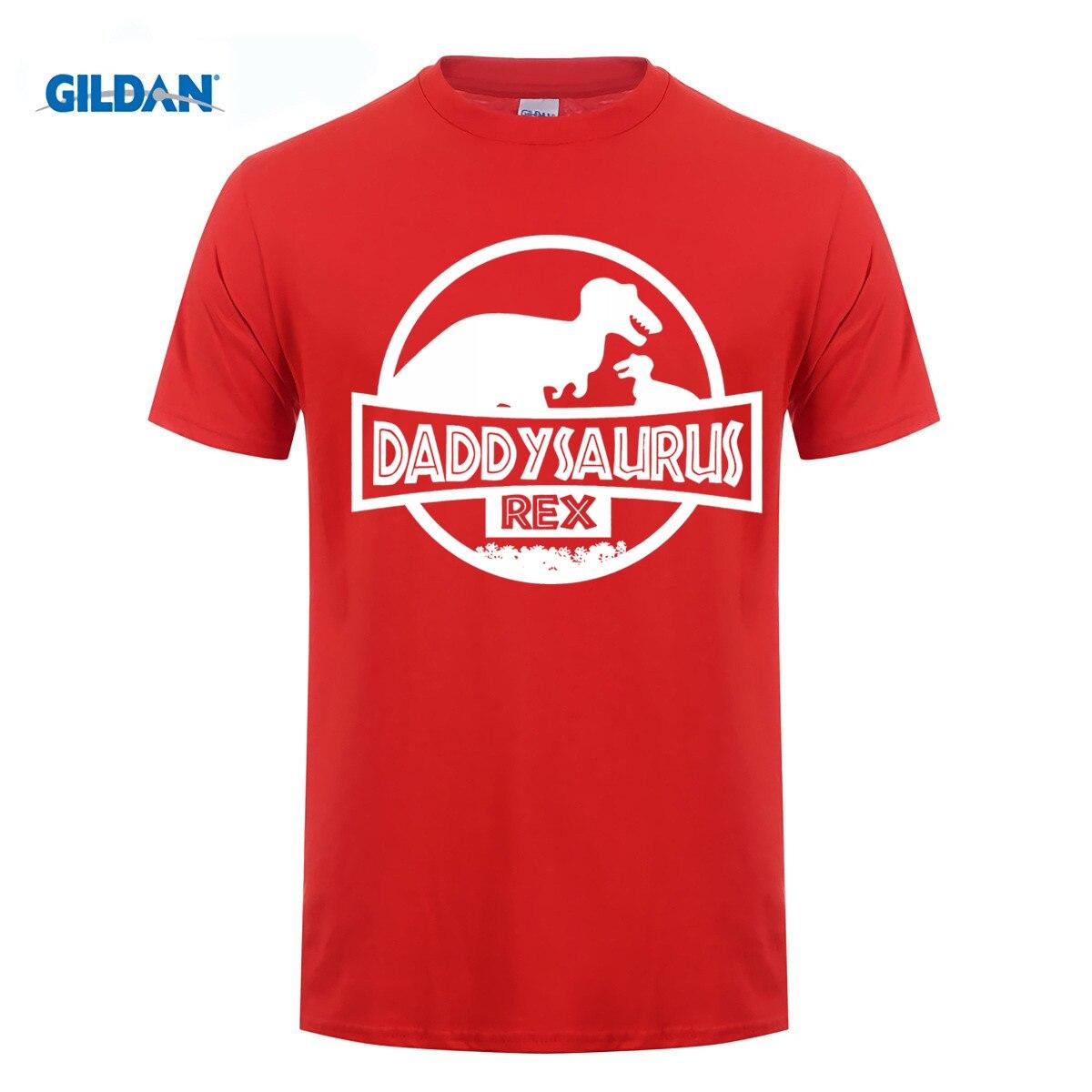 GILDAN 100% cotton O-neck printed T-shirt Fathers Day Shirt Dinosaur Shirt Daddysaurus Rex